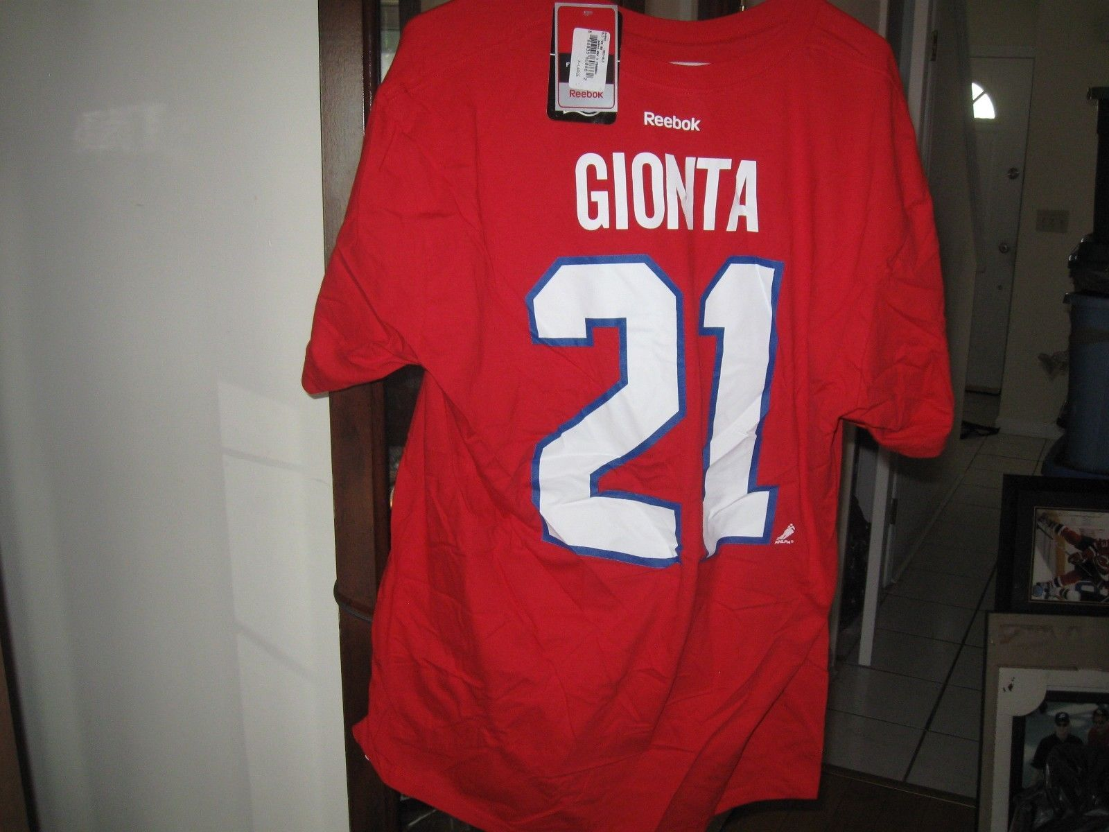 CANADIENS BRIAN GIONTA REEBOK TSHIRT JERSEY(XL) &APEX ONE JERSEY HAT RARE!