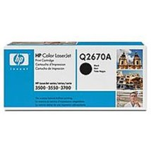 HP Q2670A Black Laser Toner Cartridge for Color LaserJet 3500/3700 Printers - $52.61