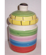 Hand Painted Swirl Multi-Colored Ceramic Container House Wares Internati... - $16.00