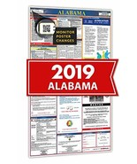 2019 Alabama All In One Labor Law Posters for Workplace Compliance - $28.34
