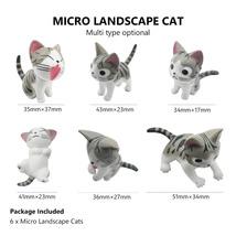 Kitten Figurines Fairy Garden Decor Micro Landscape Lawn Ornaments Bonsa... - $9.19