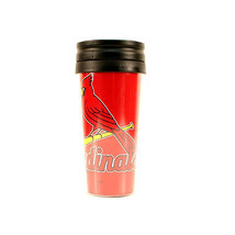 ST LOUIS CARDINALS MUG CUP TRAVEL TUMBLER  COFFEE MLB 14 OZ INSULATED  W... - $9.98