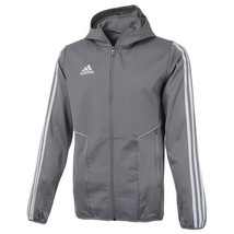 adidas Tiro 19 Warm Full Zip Hoodie Long Sleeve Stripes Long Sleeve Grey DW4805 - $94.99