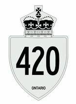 Ontario Highway 420 Sticker R3193 Highway Sign - $1.45+