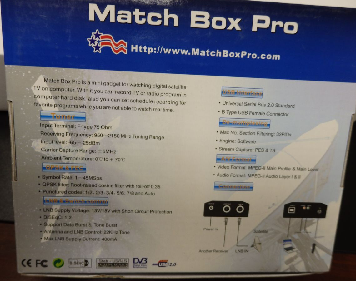 MatchBoxPro - Experimenters / developers satellite receiver for your computer