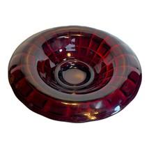 """Vintage Ruby Red Cranberry Serving Bowl Platter 10 3/4"""" diameter - $29.39"""