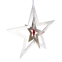 3D Aluminum and Crystal Star Ornament image 4