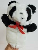 "Plush Hand Puppet Panda Animal Ideal For Small Hands Vintage Lillian Vernon 7x6"" - $12.73"