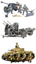 3 Tamiya Models - 75 mm Pak 40/L46, 20 mm Quad Flak, Panzer Kampfwagen I... - $44.54