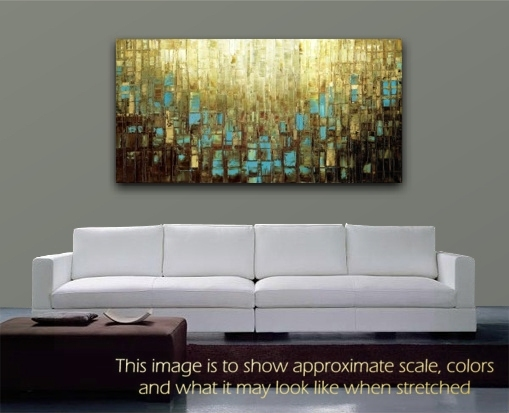 Abstract wall art PRINT Mid Century Modern Art Blue and Brown by Susanna Shap