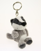 NICI Badger Gray Stuffed Animal Plush Beanbag Key Chain 4 inches - $11.99