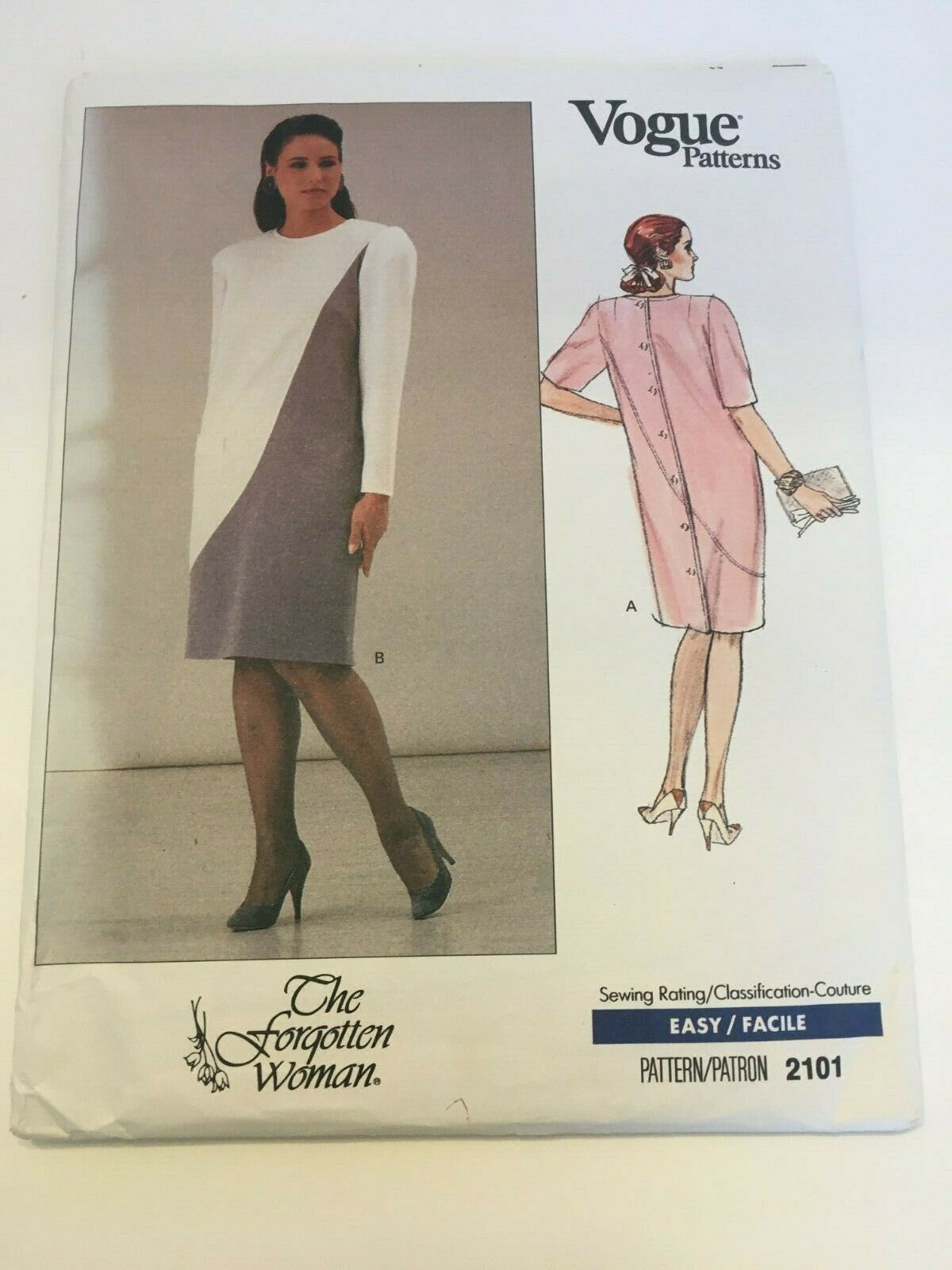 Primary image for Vogue Sewing Pattern The Forgotten Woman 2101 Straight Dress 20W-24W Uncut