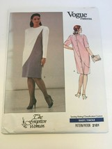 Vogue Sewing Pattern The Forgotten Woman 2101 Straight Dress 20W-24W Uncut - $14.99