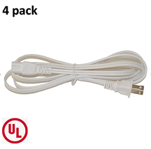 BYBON(4 PACK) 6ft 18AWG SPT-2 Non-Polarized Power Cord White UL listed - ₹1,114.10 INR