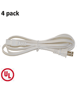 BYBON(4 PACK) 6ft 18AWG SPT-2 Non-Polarized Power Cord White UL listed - $15.95