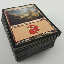 MTG 100 X Mountain Red Land Cards Black Border Assorted Lot Magic The Ga... - $3.47