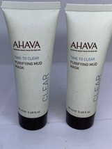 2x Ahava Time To Clear Purifying Mud Mask Sample 0.68oz New - €13,19 EUR