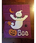 HALLOWEEN BOO PUMPKIN GHOST  LARGE FLAG 36x30 - $25.00