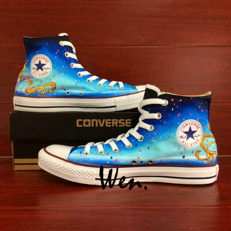 Sailor Moon Queen Serenity Design Anime Converse All Star Hand Painted Shoes