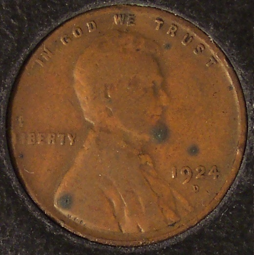 1924-D Lincoln Wheat Back Penny VG #090