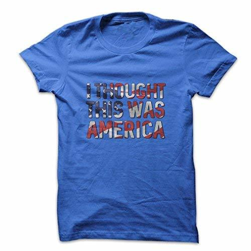 Mad Over Shirts I Thought This Was America Migrant Refugee Tourist Country USA M