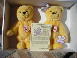 Annette Funicello Lot of 2 Bears Best Friends Austin and Amber Moveable ... - $45.00