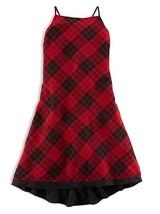 Ralph Lauren Polo Girls Plaid Sleeveless Chiffon Dress, Red/Black , Size 12 - $39.59