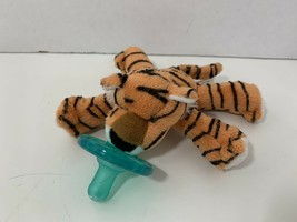 Wubbanub small mini plush tiger baby toy pacifier Mary Meyer orange - $19.79