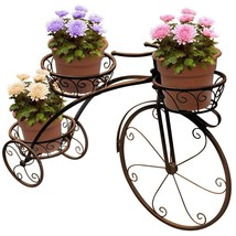 Brown Tricycle Plant Stand Flower Garden Bike Pot Holder Patio Gift Planter - $77.52 CAD