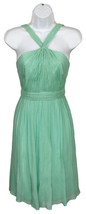 J Crew Sinclair Dress In Silk Chiffon Soft Aqua 00 49388 - $119.59