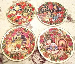 Set of 4 ROYAL DOULTON Holiday Picture Plates Artist Jane James 1993 - 1... - $49.95