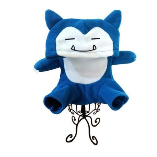 Pet Dog Cat Clothes Costume Pokemon Go Pikachu Snorlax Hooded Outfit Halloween