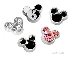 5 pc MOUSE YIN YANG / ZEN Floating Charms - fit... - $11.83