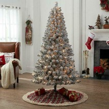 Holiday Time Pre-Lit Flocked Frisco Pine Artificial Christmas Tree, 6.5 ... - $100.05