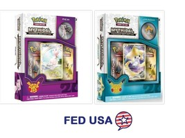 POKEMON Mythical Jirachi + Mew Mythical Collection Pin Box Generations P... - $41.99