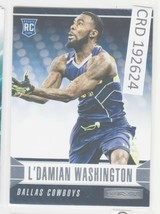 2014 Panini Rookies and Stars L'Damian Washington WR Dallas Cowboys #164... - $0.98