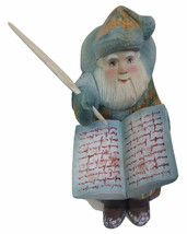 Russian Hand Carved Santa: Santa sits and Writes his Letters to children - $128.65