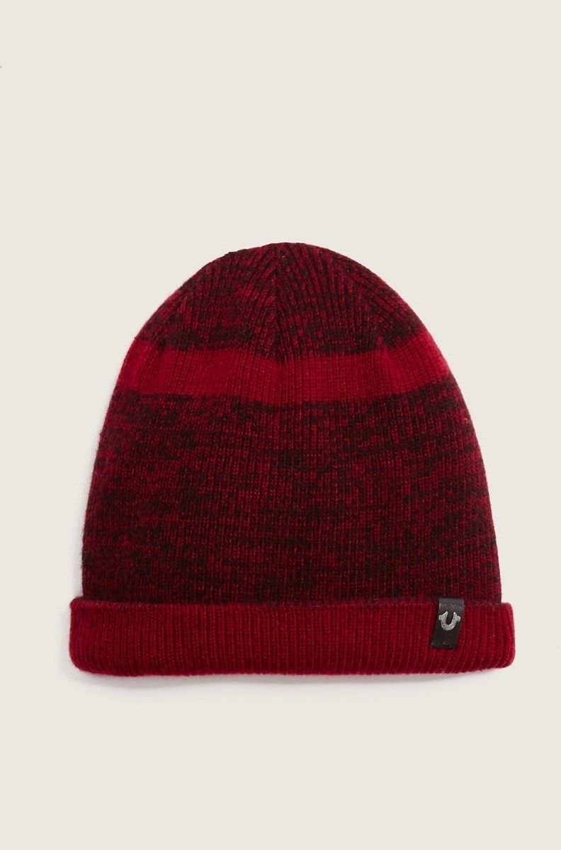 1175885f2 True Religion Short Knit Beanie Hat in Blood and 18 similar items
