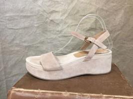 Womens SUEDE PLATFORM SANDALS Ankle Strap Summer Spring VIA SPIGA Tan 9 ... - $53.08