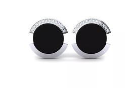 925 Sterling Silver Genuine Black Onyx And Cz Gemstone Artistic Design Handcraft image 1