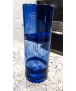 Margie's Garden Blue Hand Blown Art Glass Vase With Original Label - $35.10
