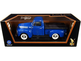 1948 Ford F-1 Pickup Truck with Bed Cover Dark Blue 1/18 Diecast Model Car by Ro - $67.19