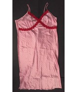 Valentine's Hearts Nightgown 3X Pink Red Lace Sexy Jaclyn Smith Sleepwear - $29.69