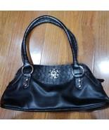 Beautiful Black Flower Detail Shoulder Mini Bag Purse Handbag - $14.99