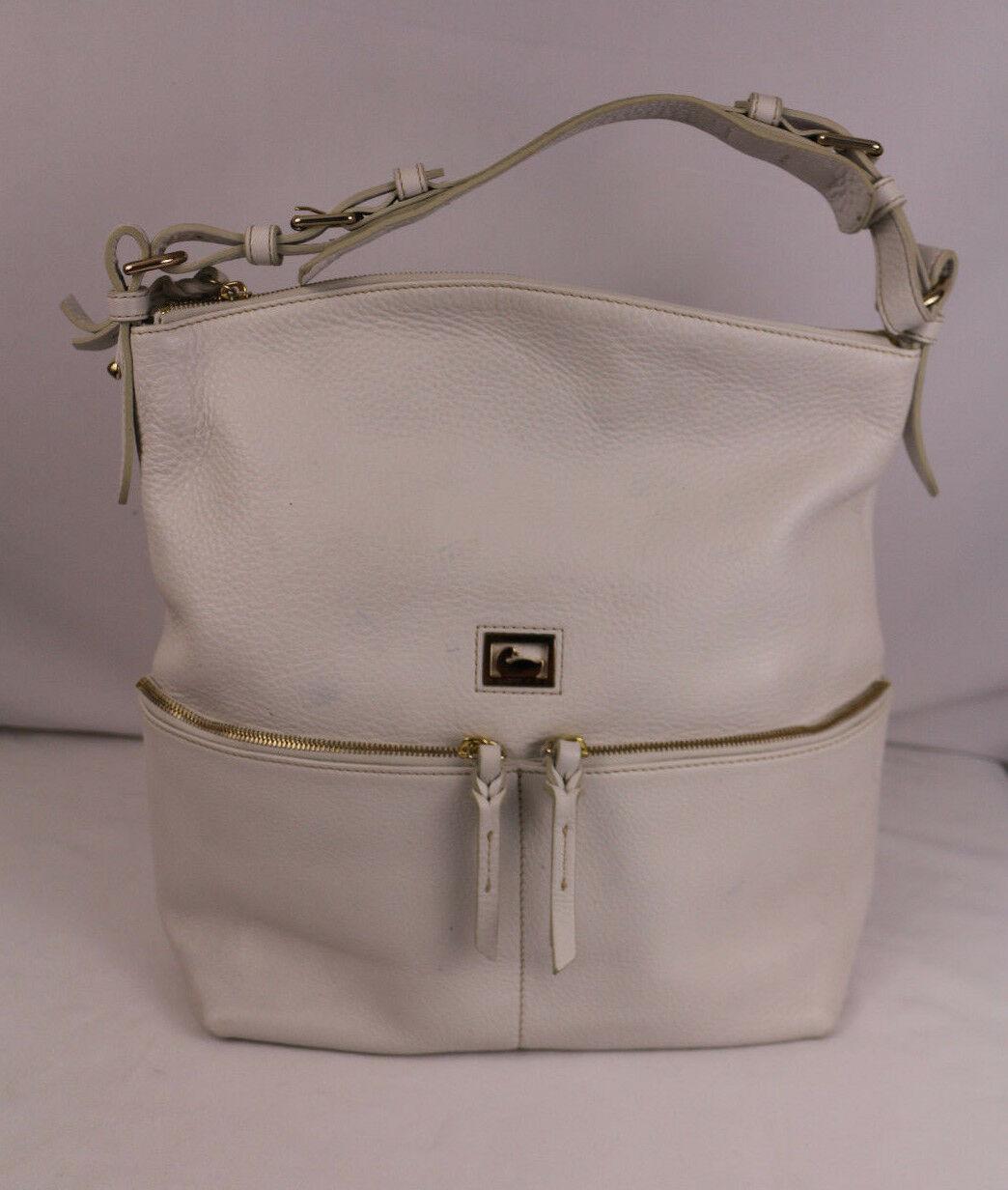 Dooney & Bourke Dillen Leather Medium Zipper Pocket Sac Hobo Pre-Owned W/Dustbag - $84.66
