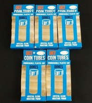 ANCO Dime Crystal Clear Moisture Proof Coin Tubes No.1410 25 VTG Lot of ... - $12.99
