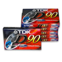 Lot Of 6 TDK D 90 Dynamic Performance High Output IECI TYPEI Cassette Tapes - $24.99