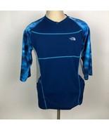 The North Face Mens Cryptic Blue Shirt Size Medium Aqua Aquatic - $49.49