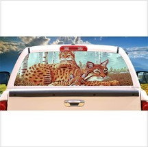 Bobcat & Cubs Rear Window Mural, Decal, or Tint for rear window in Truck, RV, Ca - $77.99