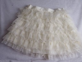 Childrens Place White Sparkle Size S 5/6 Dress Girls Skirt  - $8.58